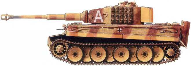 Pz.Kpfw.VI(H) командования 507-го батальона тяжелых танков. Украина, апрель1944 года.