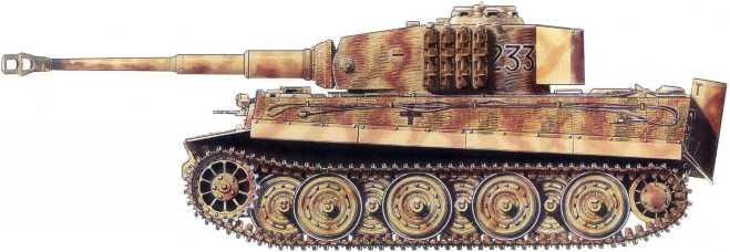 Pz.Kpfw.VI Ausf.E из состава 510-го батальона тяжелых танков вермахта. Прибалтика, декабрь 1944 года.