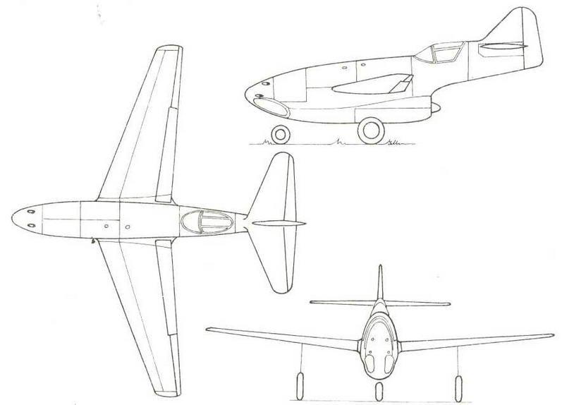 Проект Мессершмитта Р1092/3 от 16 июля 1943 г.