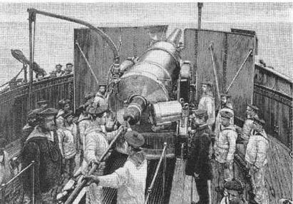 """Артиллерийские учения на """"Редутабле"""". 1900-е гг"""