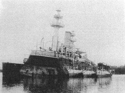 "Корпус броненосца ""Редутабль"" в Сайгоне. 1910-е гг."
