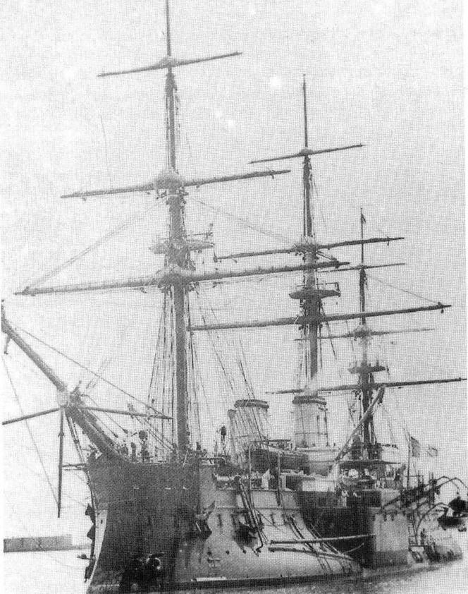 Броненосец *Дввастасьон* в 1880-е гг.