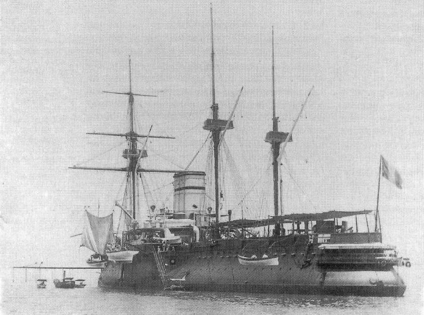 "Броненосец ""Редутабль"" в конце 1880-х-начале 1890-х гг."