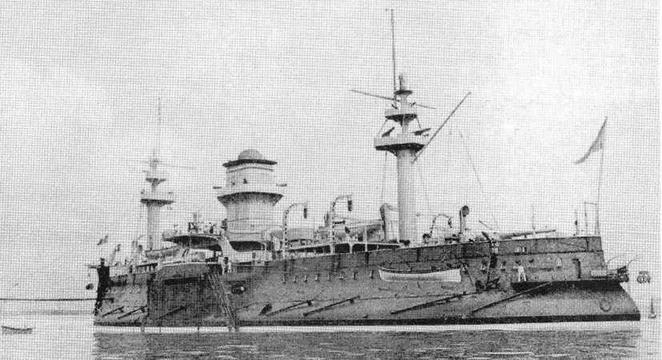 """Броненосец """"Редутабль"""" в конце 1890-х гг."""