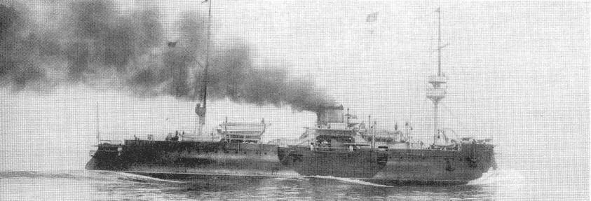 "Броненосец ""Девастасьон"" после модернизации 1898 г."