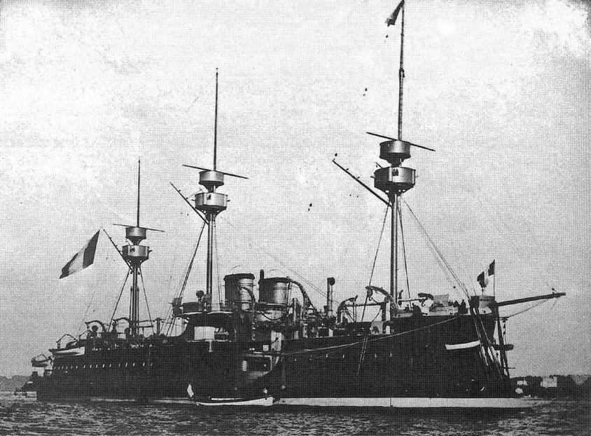 "Броненосец ""Девастасьон"" в начале 1890-х гг."