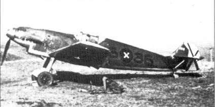 Самолет штаффелькапитана Хардера. На киле отметки о трех сбитых самолетах.
