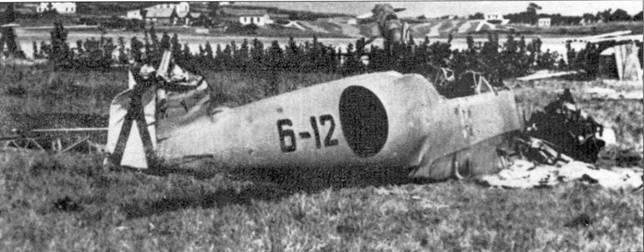 Разбитый самолет Германа Станге.