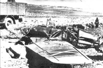 Носовая часть сбитого Bf.109 (борт 6-20).