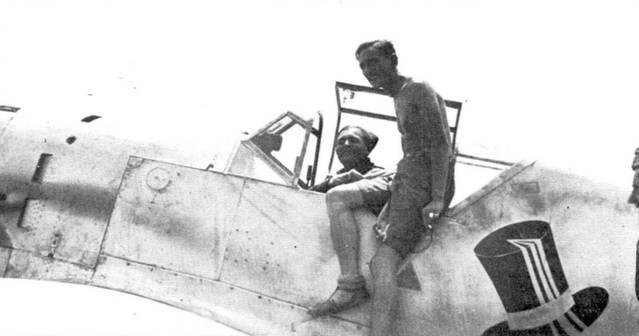 Фельдфебель Герберт Илефельд в кабине Bf.109B-I. Шесть побед, номер самолета 6–6, 25 июни 1938 года.