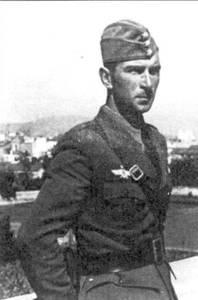 Вернер Мельдерс в первые дни своего пребывания в Испании.