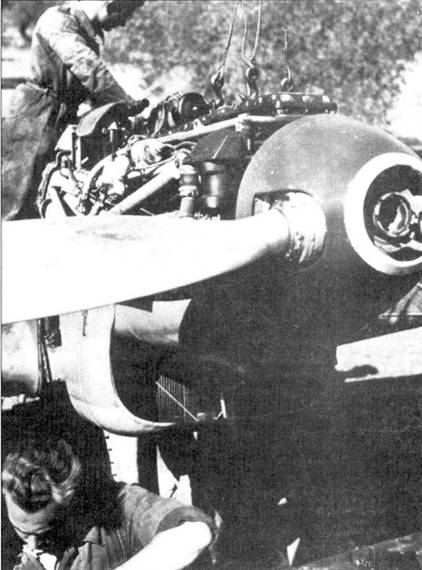 Замена двигателя на Bf.109.