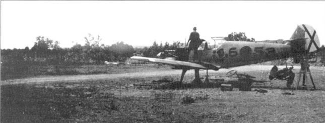 Пристрелка пулеметов на Bf.109.