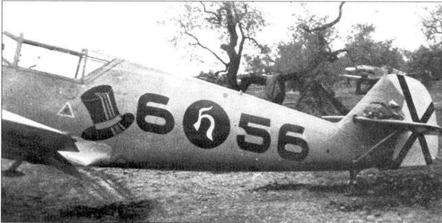 Борт самолета Bf.109 командира 88 группы Хендрика.