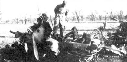 Остатки республиканского самолета, сбитого Bf.109 над Сантандером.