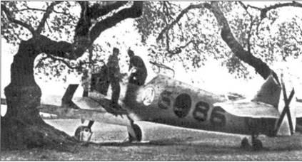 Самолет командира первой эскадрильи Реентса.