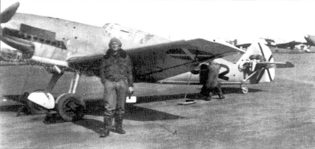 Истребитель Bf.109В-1 лейтенанта Rescha из 2. J/88.