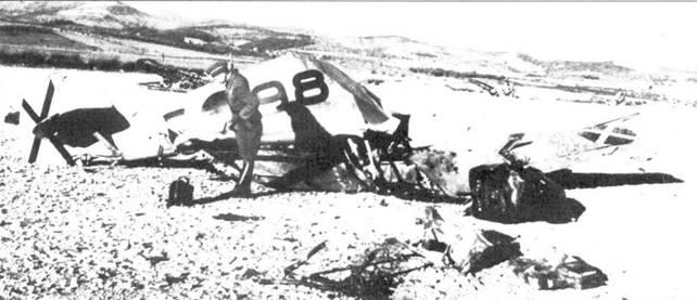 Сбитый Bf.109F.-l.