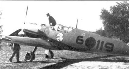 Истребитель Bf.109E-1 штаффелькапитана Реентса.