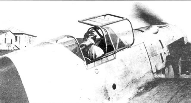 Опробывание двигателя Bf.109-1 французским летчиком Розановым в Испании.