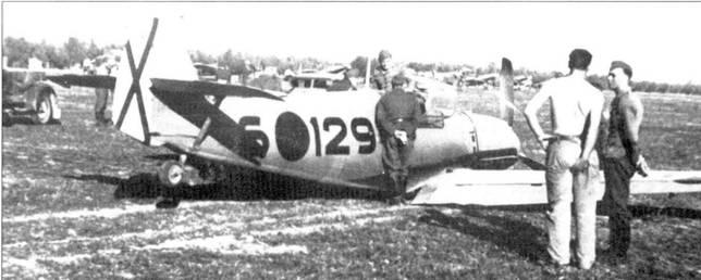 Результат грубой посадки на Bf.109E-1.