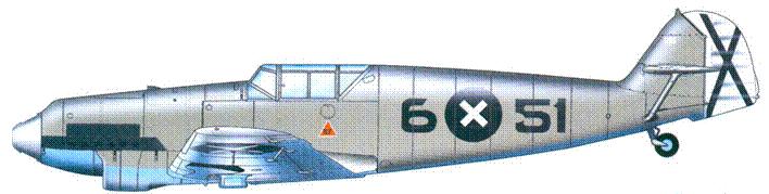 Bf.109D-1 гауптмана Schellmana из 1.J/88 имевшего 12 побед в воздухе.
