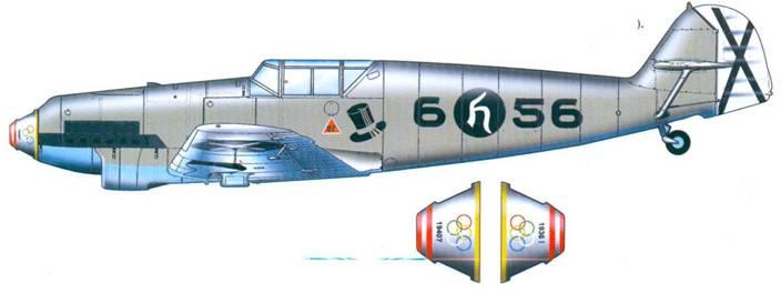 Bf.109D-1 на котором с 18.07.37 по 10.09.38 года летал командир 88-й группы гауитман G. Handrick (5 побед)