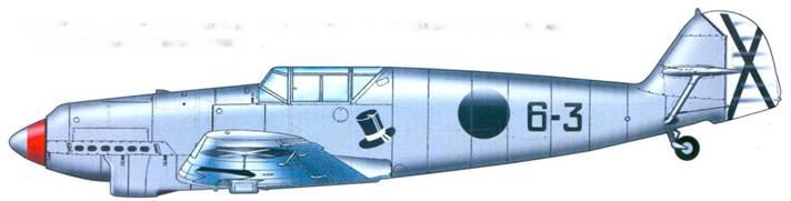 Bf-109V-3. Первый из истребителей данного типа с характерной эмблемой 2.J/88 «Цилиндр». Декабрь 1936 года, аэродром Таблада.