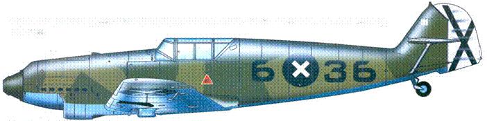Bf.109B-2 третьего по результативности немецкою аса(11 побед)— Гауптмана Handera из I.J/88. Сентябрь 1938 года.