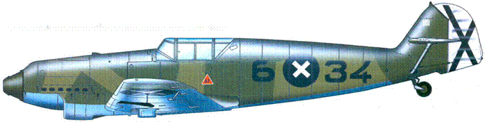 Bf.109В-2 летчик Erich Woitke — 4 победы. Август 1938 года.