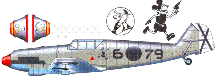 Bf-109D-1 Wernera Moldersa (14 побед) из 3.J/88. Июнь 1937 года.