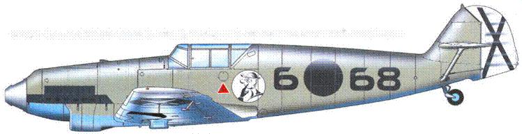 Bf-I09l)-1 летчика Siebclta Reentsa (1 победа), последний из поставленных машин л он модификации.
