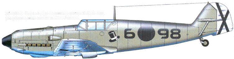 Bf.109E-1. Один из двух самолетов, сбитых 6.02.39 года республиканским летчикам Хосе Фалько.