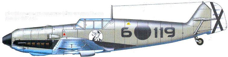 Bf.109Е-1 командира эскадрильи I.J/88 капитана Reentsa. Декабрь 1938 года.