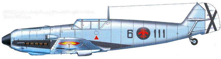 Bf.109E-3 из испанской истребительной группы 6-G-6. Конец 1939 года.