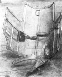 Задняя верхняя крышка капота двигателя и боковой обтекатель.
