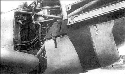 Правый борт носовай части фюзеляжа Bf.109-1.
