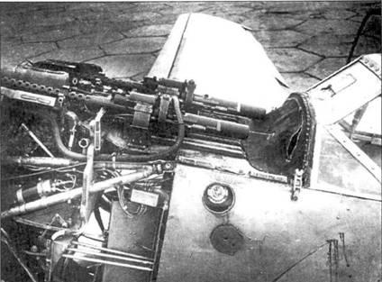 Установка пулеметов в носовой части Bf.109-1.