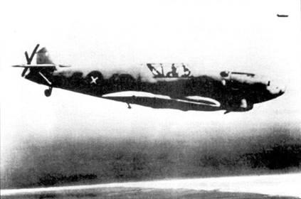 Истребитель Bf.109-1 в полете, лето 1938 года.