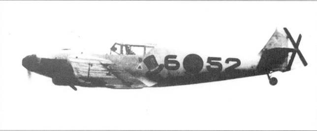 Bf.109D-1 легиона «Кондор» в полете. Хорошо видна эмблема второй эскадрильи — «Цилиндр».