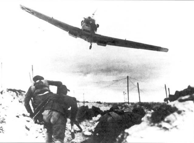 Bf. 109В-1 легиона «Кондор» над окопами республиканских войск.