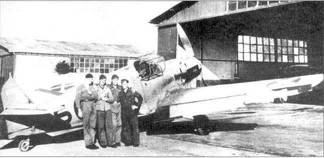 Bf. 109E Вернера Мельдерса, на киле видны отметки о семи победах в воздушных боях.