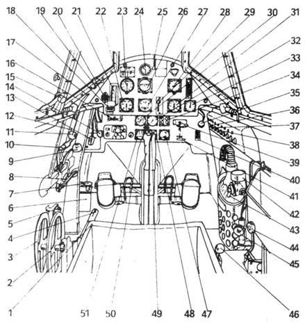 Кабина Bf.109 D-1