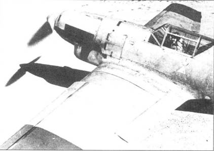 Французский летчик Константин Розанов в кабине Bf.109B-1.