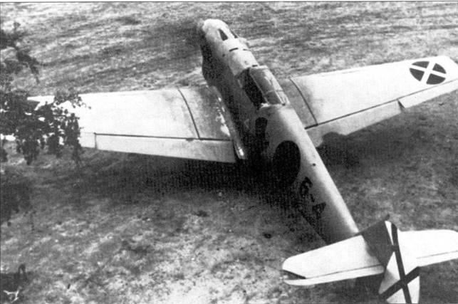 Bf.109В-1 из второй эскадрильи легиона «Кондор».