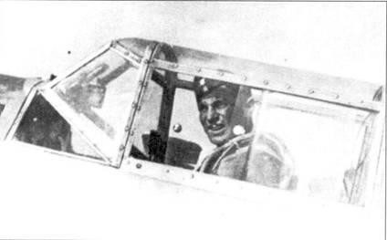 Лейтенант Петер Боддем (10 побед) в кабине своего Bf.109.