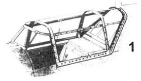1.Фонарь первых опытных самолётов (Bf.109 V-1 — Bf.109 V-6)