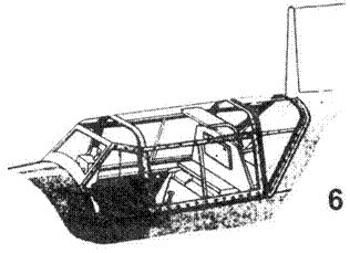 5.Фонарь кабины Bf.109E-0, Е-1, Е-2 и первых серий Е-3
