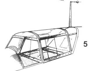 6.Фонарь кабины Bf.109Е-3 поздних серий