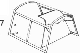 7.Откидная часть фонаря кабины Bf.109Е-3